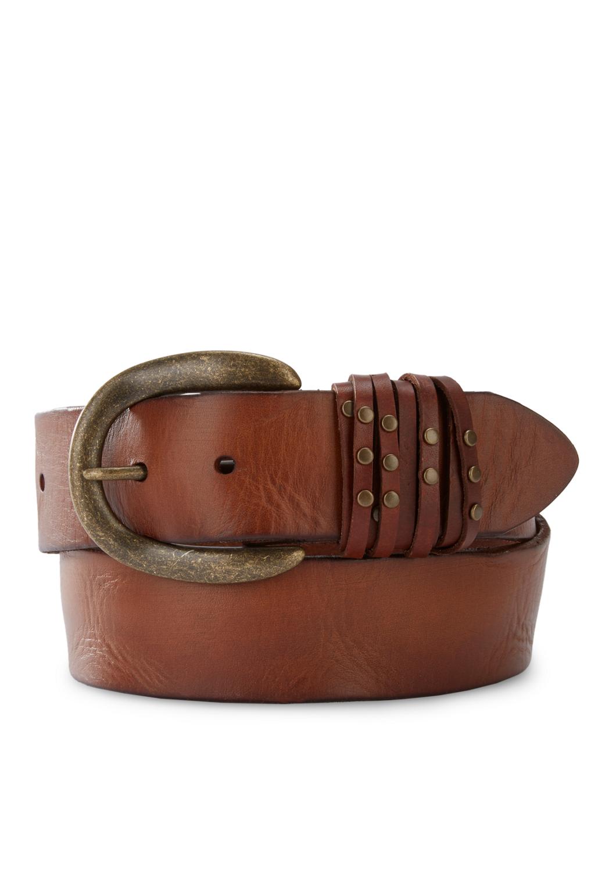 Artikel klicken und genauer betrachten! - Liebeskind Berlin Robustes Leder cooler Vintage-Look! Der breite Gürtel begeistert mit einer runden Dornschließe im Antik-Look, passenden Nieten an den Schlaufen und einer stylishen Vintage-Veredelung. Für einen Hauch Biker-Flair in unseren Styles., robustes Leder in Vintage-Optik, Dornschließe im Antik-Look, Nietendekor an den Schlaufen, 4-fach verstellbar, | im Online Shop kaufen