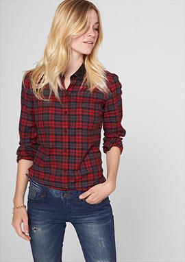 blouses lange mouwen met motief voor dames nu in de s oliver online shop. Black Bedroom Furniture Sets. Home Design Ideas