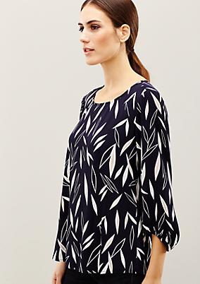 Edle 3/4-Arm Bluse mit extravagantem Muster