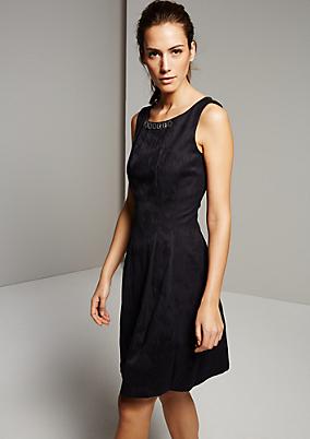 Elegantes Jacquardkleid mit feinem Ton-in-Ton Muster