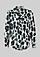 Feminine Kreppbluse mit aufwendig gestaltetem Alloverprint