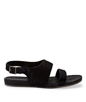 Sandale in Ponyfell-Optik