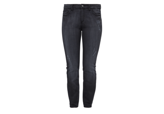 Curvy: Graue Used-Jeans von s.Oliver
