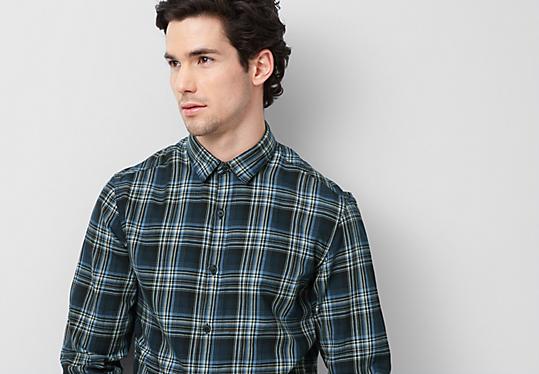 Extra Slim: Kariertes Hemd von s.Oliver