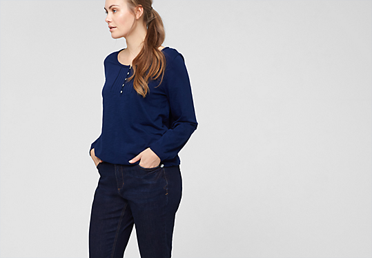 Fancy Fit: Dunkle Stretch-Jeans von s.Oliver