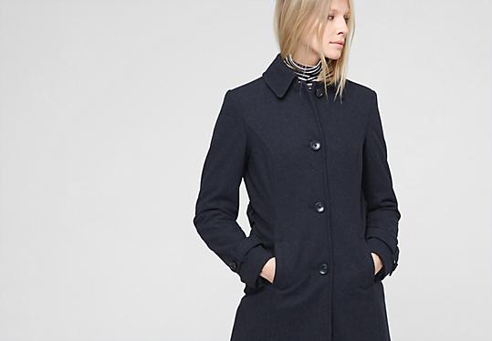 femininer mantel aus woll mix im s oliver online shop. Black Bedroom Furniture Sets. Home Design Ideas