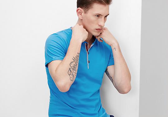 Geknöpftes T-Shirt mit Patches von s.Oliver