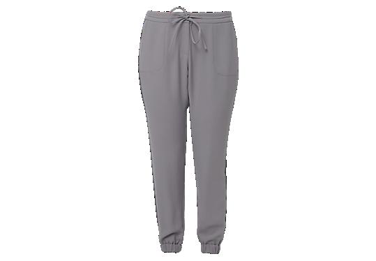 Jogger style pants van crêpe van s.Oliver