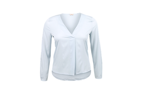 Materialmix-Bluse mit V-Neck von s.Oliver