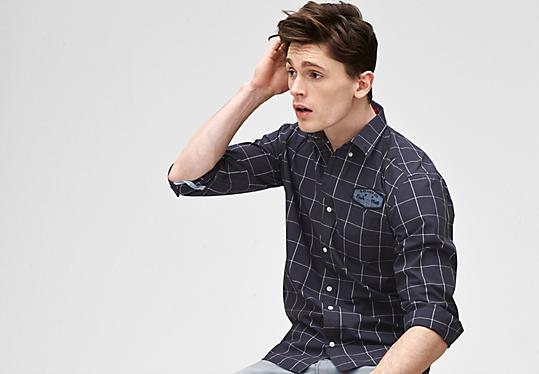 Regular: Hemd mit Brust-Patch von s.Oliver