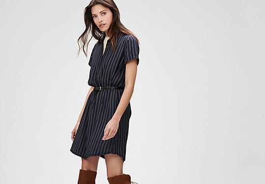 Streifen-Kleid im Hemdblusen-Stil von s.Oliver