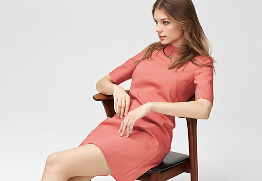 Stretch cotton shift dress from s.Oliver