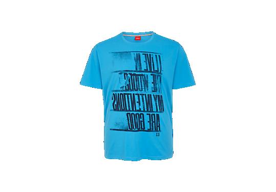 T-shirt met gespiegelde tekst van s.Oliver