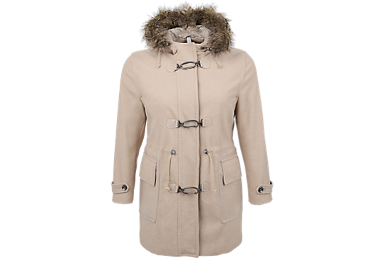 Wolljacke mit Fake Fur-Detail von s.Oliver