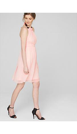 Chiffon-Kleid mit verziertem Kragen von s.Oliver