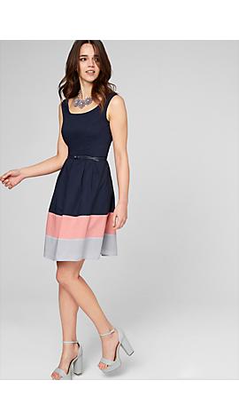 Kleid aus Baumwoll-Satin von s.Oliver