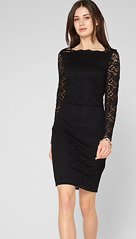 Kleid aus floraler Spitze im s.Oliver Online Shop