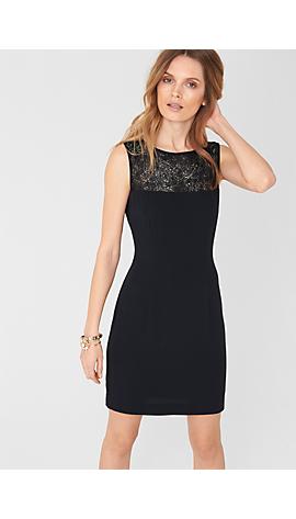 Kleid mit transparenter Passe von s.Oliver