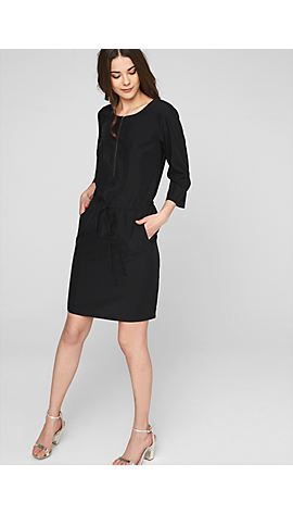 Kleid mit Zipp-Ausschnitt von s.Oliver