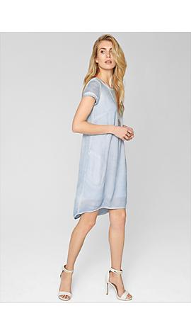 Pigment Dye-Kleid mit Seide von s.Oliver