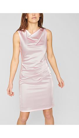 Satin-Kleid mit Taillen-Drapierung von s.Oliver
