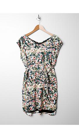 Viskose-Kleid mit V-Neck von s.Oliver