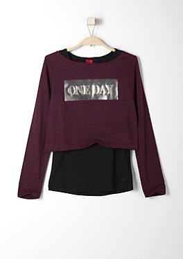 2 in 1-Crop Shirt mit Top von s.Oliver