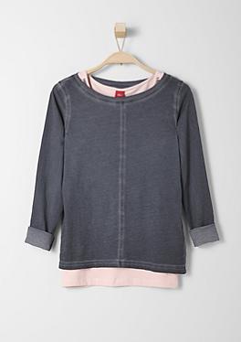 2 in 1-Shirt mit Pailletten-Top von s.Oliver