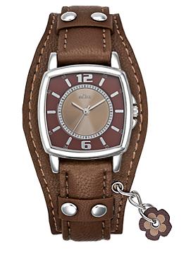 Armbanduhr mit Blütenanhänger von s.Oliver