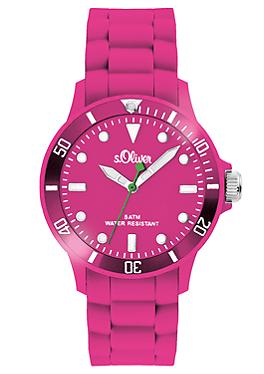 Armbanduhr mit Silikonband von s.Oliver