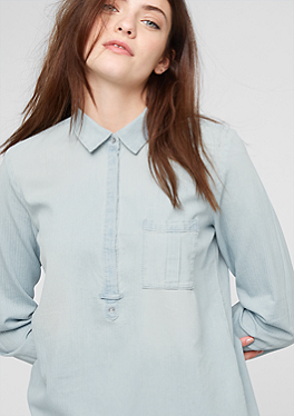 Bluse in Denim-Optik von s.Oliver