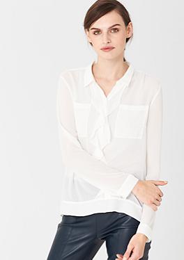 Bluse mit dekorativen Falten von s.Oliver
