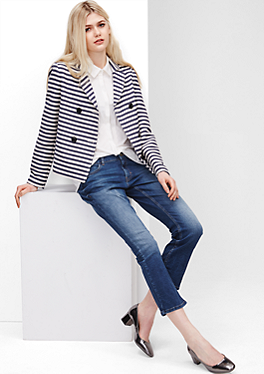 Bootcut Ankle: Used-Jeans von s.Oliver