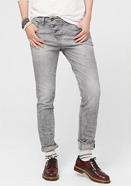 Boyfriend: Grau-melange Jeans von s.Oliver