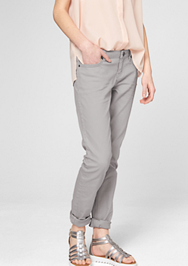 Catie Tube: Farbige Stretch-Jeans von s.Oliver