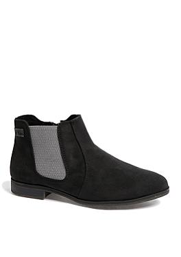 Chelsea boots van imitatiesuède van s.Oliver