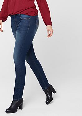 Curvy: Schmale Stretch-Jeans von s.Oliver