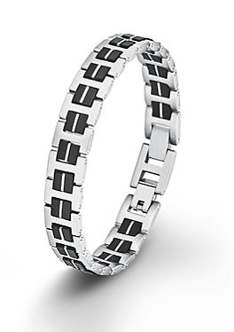 Edelstahl-Armband mit Kautschuk von s.Oliver