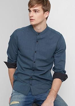 Extra Slim: Hemd mit Minimal-Muster von s.Oliver