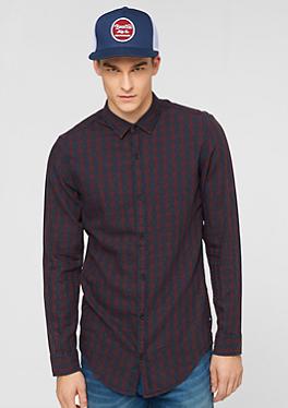Extra Slim: Kariertes Baumwollhemd von s.Oliver