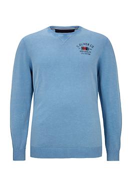 Flammgarn-Pullover mit Wascheffekt von s.Oliver