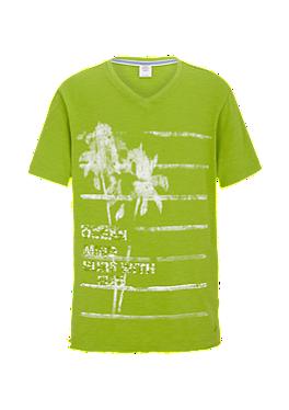 Flammgarnshirt mit Palmen-Print von s.Oliver