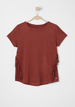 Fransen-Shirt aus Jersey von s.Oliver