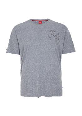 Gemêleerd shirt met print van s.Oliver