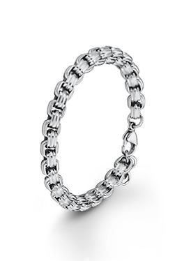 Grobe Armkette aus Edelstahl von s.Oliver
