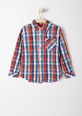 Hemd mit Crinkle-Effekt von s.Oliver