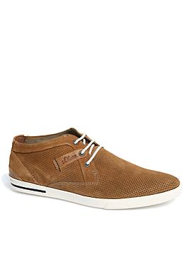 High Sneaker aus perforiertem Leder von s.Oliver
