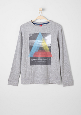 Inside-out-Longsleeve mit Print von s.Oliver