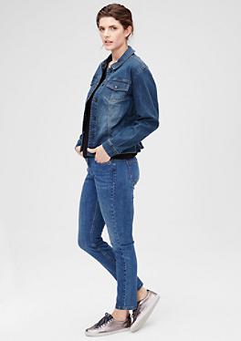 Jeansjacke mit schräger Knopfleiste von s.Oliver