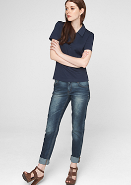 Jeggings: Dunkelblaue Stretch-Jeans von s.Oliver